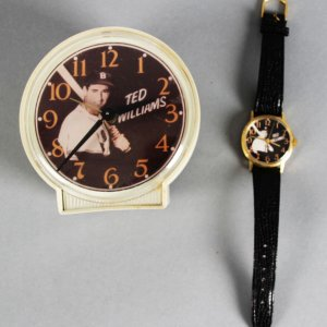 Ted Williams Rare Vintage 1970'S  Wind Alarm Clock & Wrist Watch
