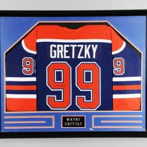 Wayne Gretzky Signed Edmonton Oilers Jersey Framed - COA UDA