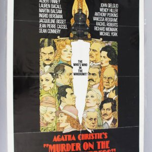 MURDER ON THE ORIENT EXPRESS 1sh '74 Agatha Christie