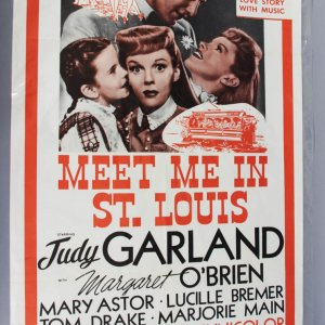 Original MEET ME IN ST. LOUIS 1sh R62 Judy Garland, Tom Drake