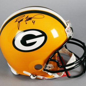 Brett Favre Signed Green Bay Packers Full Size Helmet - Player Hologram