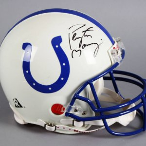 Peyton Manning Signed Indianapolis Colts Full Size Helmet - JSA