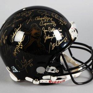 Heisman Trophy Winners (28) Multi-Signed LE 70/100 Full Size Helmet - Barry Sanders, OJ Simpson etc. - Steiner