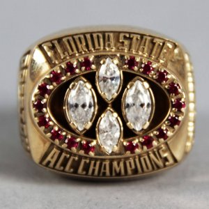 1995 Florida State Seminoles ACC Champions Player Ring 10K Gold (Rock Preston)