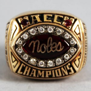 1993 Florida State Seminoles ACC Champions Player Ring 10K Gold