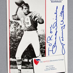 Johnny Unitas Signed Promo Photo Colts - COA JSA