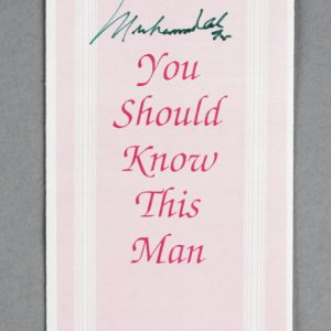"Muhammad Ali Signed ""You Should Know This Man"" Pamphlet Islam - JSA"