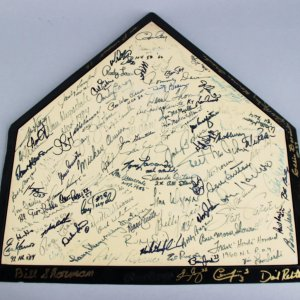 Brooklyn/Los Angeles Dodgers HOFer's & Stars Multi-Signed Home Plate 100+ Sigs. Sandy Koufax - JSA