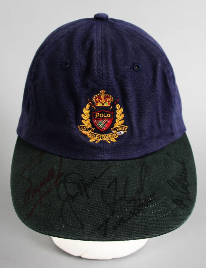 Jack Nicklaus Muli-Signed Golf Hat - COA JSA