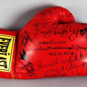 Boxing Legends Multi-Signed Glove - 10+ Sigs. Incl. Boom Boom Mancini, Christy Martin etc. - JSA