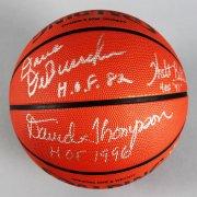 NBA HOFer's Multi-Signed Basketball (8) Sigs. Dave Debusschere, Earl Monroe etc. - JSA
