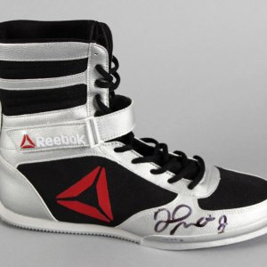 Floyd Mayweather Jr. Signed Boxing Shoe - COA JSA