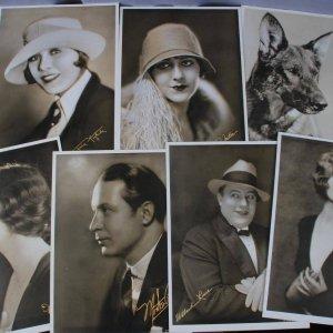 1920's Silent Film Star Photo Lot 11x14 (7) Warner Brothers Stars Portraits - Rin Tin Tin, Irene Rich etc.