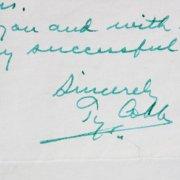 Ty Cobb Detroit Tigers Signed Handwritten Letter - JSA Full LOA