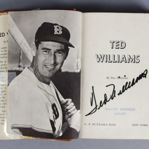 Ted Williams Boston Red Sox Signed Book - JSA