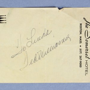 Ted Williams Boston Red Sox Signed Cut Parchment - JSA
