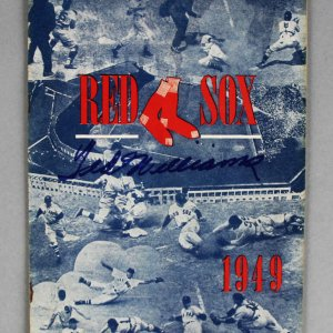 1949 Ted Williams Signed Boston Red Sox Program - JSA