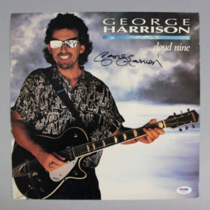 George Harrison Signed Cloud Nine Album LP Cover - PSA/DNA Full LOA