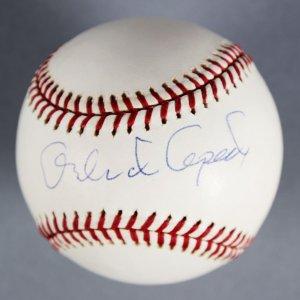 Orlando Cepeda San Francisco Giants Signed Baseball - COA TriStar