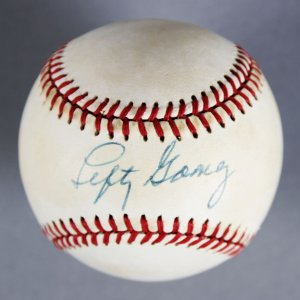 Lefty Gomez New York Yankees Signed Baseball - Steiner Hologram