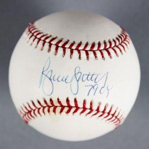 Bruce Sutter Chicago Cubs Signed Baseball - COA MLB