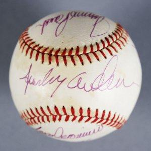 Cincinnati Reds Multi-Signed ONL (Feeney) Baseball -  Sparky Anderson, Johnny Bench, etc. - JSA