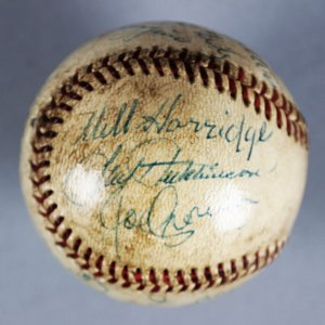 HOFer's & All Stars Multi-Signed Baseball - Warren Giles, Will Harridge, etc. - JSA Full LOA