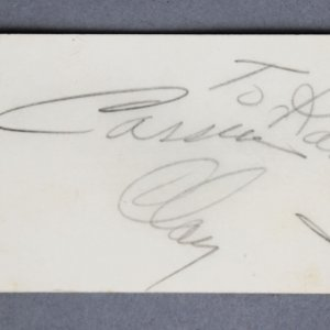 Cassius Clay Signed Business Card - Muhammad Ali - JSA Full LOA