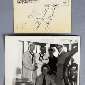 Frank Sinatra, Gene Kelly & Jules Munshin Signed & Orginal Photo  - JSA Full LOA