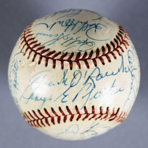 HOF & All Stars Multi-Signed Baseball - Casey Stengel,  Hank Greenberg, Billy Martin, Joe Cronin - JSA Full LOA