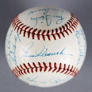 1969 Montreal Expos Team Signed ONL (Giles) Baseball (1st Year) Gene Mauch - JSA