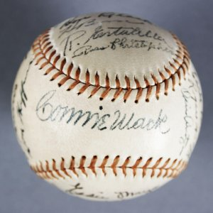 1943 Philadelphia Athletics Team Signed Baseball - Connie Mack, etc. - JSA