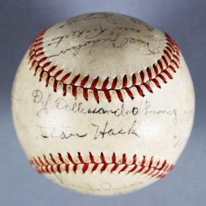 1947 Chicago Cubs Team Signed  ONL  (Frick) Baseball Stan Hack