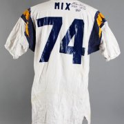 1960's Ron Mix Game-Worn, Signed Twice San Diego Chargers Jersey - 100% Team & Player LOA
