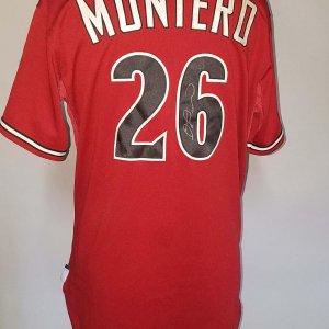 2010 Diamondbacks Montero Game-Used Red Jersey