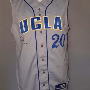 Brett McMillian Game-Worn, Signed U.C.L.A. Baseball Jersey (Vest) COA 100% Authentic Team