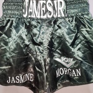 "James Green, Jr. Fight Worn, Signed Boxing Trunks ""Lights Out"" COA 100% Team"
