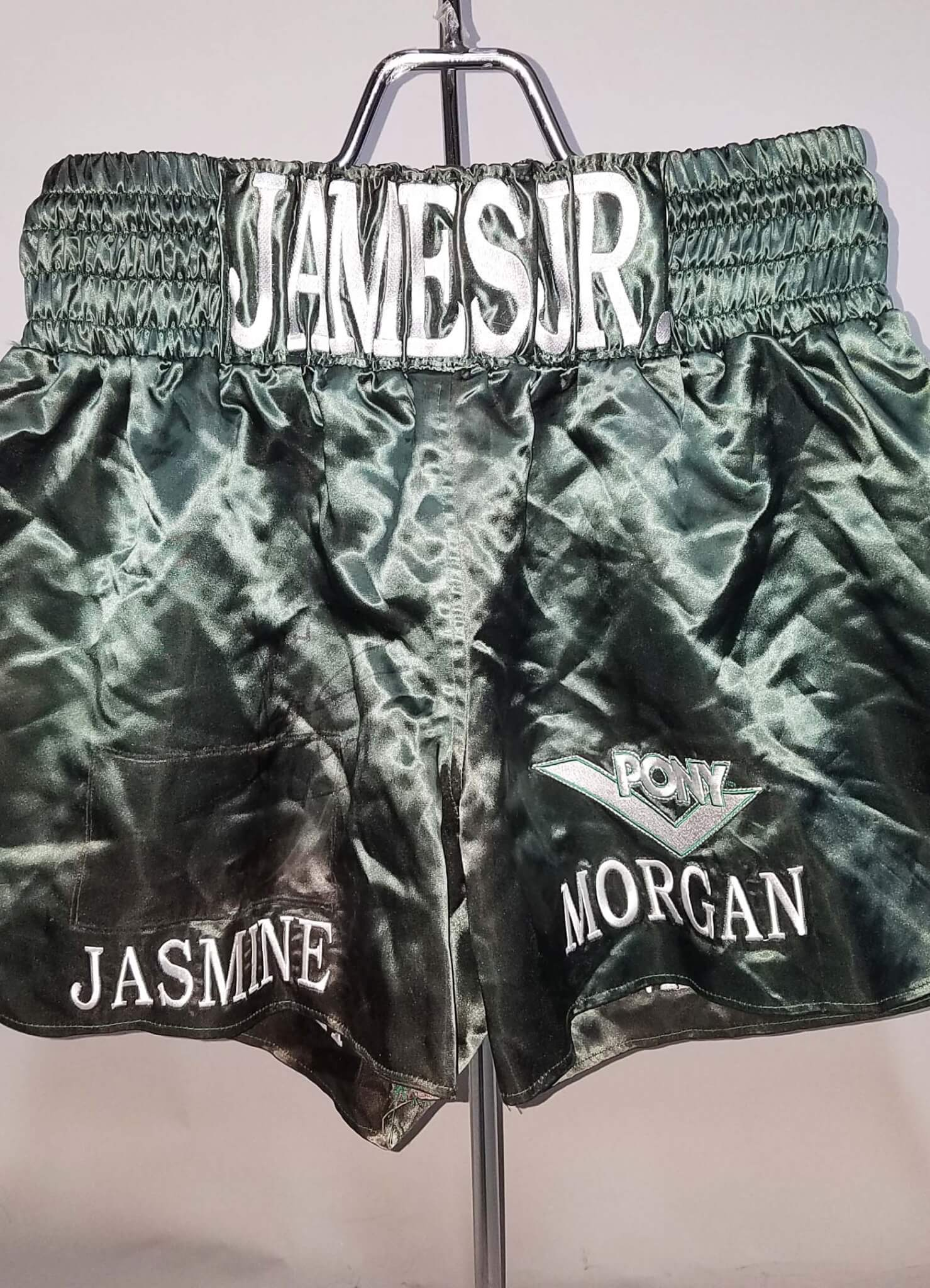 """James Toney, Fight Worn, Signed Boxing Trunks """"Lights Out"""" COA 100% Team"""