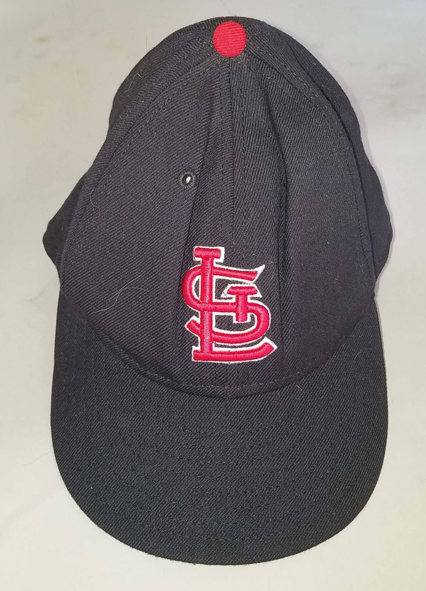 Mark McGwire St. Louis Cardinals #25 Game-Worn Cap COA 100% Authentic Team