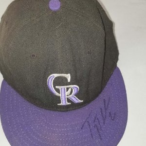 Troy Tulowitzki Game Worn, Signed Colorado Rockies Cap Hat