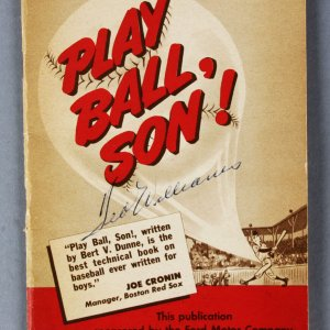"Ted Williams Boston Red Sox Signed ""Play Ball, Son!"" Book - JSA"