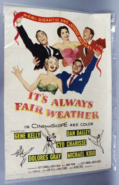 1955 It's Always Fair Weather One Sheet Movie Poster 55/277 Gene Kelly