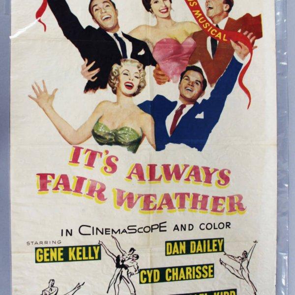 1955 It's Always Fair Weather One Sheet Movie Poster 55/277 Gene Kelly