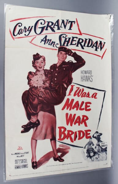 1949 I was a Male War Bride One Sheet Movie Poster R60-245 Cary Grant