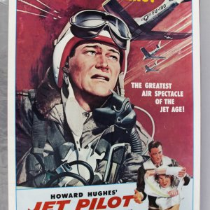 1957 Jet Pilot Movie Poster John Wayne UnFolded Condition
