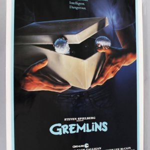 1984 Gremlins Movie Poster Folded Condition