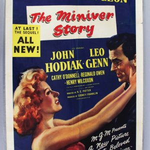 1950 THE MINIVER STORY One-Sheet Movie Poster EX Folded Condition 50/463