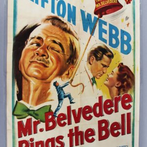 1951 Mr. Belvedere Rings the Bell One-Sheet Movie Poster EX Folded Condition 51/423