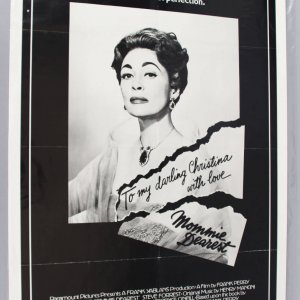 1981 Mommy Dearest One Sheet Movie Poster w/ Dunaway EX Folded Condition