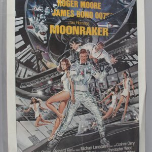 1979 Moonraker One Sheet Movie Poster w/ Moore EX Folded Condition